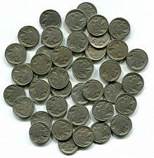 Buy BUFFALO NICKEL ROLL 1920-1930 FULL 40 PIECES GOOD AND BETTER NICE ORIGINAL COINS