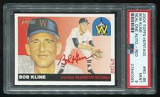 Buy 2004 TOPPS HERITAGE REAL ONE RED AUTO BOB KLINE PSA 9 MINT (27840065)