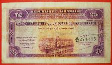 Buy ★DAMASCUS: LEBANON ★25 PIASTERS 1942! RARITY! LOW START! NO RESERVE!