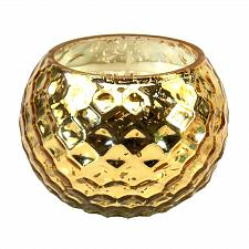Buy :10659U - Golden Honeycomb Glass Globe Scented Soy Blend Wax Candle