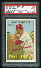 Buy 2016 TOPPS HERITAGE REAL ONE RED AUTO JACKIE BRANDT PSA 9 MINT (26101823)