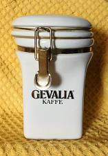 "Buy Gevalia Kaffe 7 1/2"" Coffee Storage Ceramic White W/Gold Trim Canister Airtight"