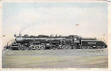 Buy Mallett Articulated Compound Locomotive on the Santa Fe Railroa Vintage Postcard