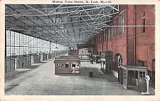 Buy Midway Union Station, St. Louis MO. Railroad Vintage Postcard