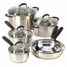 Buy D1286U - Deluxe 7pc Stainless Steel Cookware Glass Lids Collection