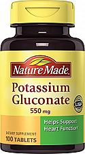Buy Nature Made Potassium Gluconate 550mg, 100 Tablets Pack of 2