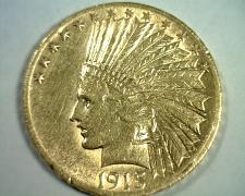 Buy 1915 TEN DOLLAR INDIAN HEAD GOLD ABOUT UNCIRCULATED AU NICE ORIGINAL COIN