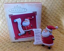 Buy Hallmark So Much To Do Christmas Ornament Santa W/List Of Children's Names 2004