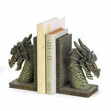 Buy 37978U - Fierce Green Dragon Figure Polyresin Bookends