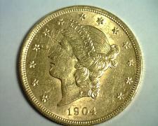 Buy 1904 TWENTY DOLLAR LIBERTY GOLD CHOICE ABOUT UNCIRCULATED+ CH AU+ NICE ORIGINAL