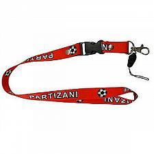 Buy FK PARTIZANI, ALBANIA. Red LANYARD KEYCHAIN PASSHOLDER.