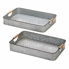 Buy *18736U - Galvanized Rectangle Serving Trays