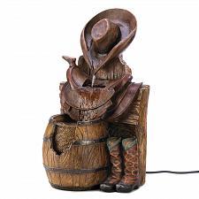 Buy 14939U - Wild West Cowboy Hat Boots Saddle Water Fountain Yard Art