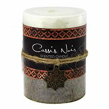 Buy :10927U - Cassis Noir Moroccan Scented Pillar Candle 3X4 Palm Wax 60 Hr