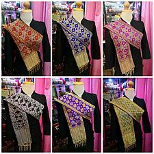 Buy Thai Lao Laos Laotian pha bieng Wrap Scarve with beads traditional costumes
