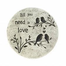 "Buy *17998U - All You Need Is Love 10"" Garden Stepping Stone Yard Art"
