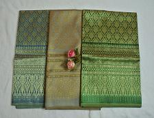 Buy Luxurious Thailand Silk Silks synthetic yarns Fabric intricately Woven Motif
