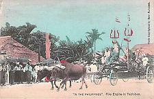 Buy Fire Eninge in Tacloben Philippine Islands Vintage Postcard