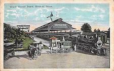 Buy Grand Central Depot, Houston, Texas Railroad Vintage Postcard