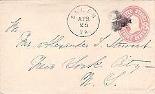 Buy Salem VA Heart Fancy Cancel U58 Cover Circa 1867
