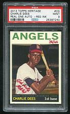 Buy 2013 TOPPS HERITAGE REAL ONE RED AUTO CHARLIE DEES PSA 9 MINT (25397240)