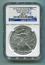Buy 2012(S) SILVER EAGLE SAN FRANCISCO MINT LABEL NGC MS69 EARLY RELEASE BLUE LABEL