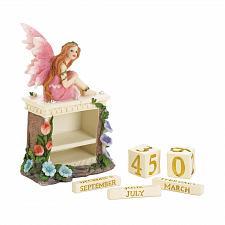 Buy *18603U - Pink Fairy Figurine Block Calendar