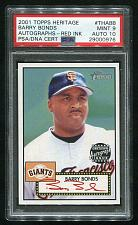 Buy 2001 TOPPS HERITAGE REAL ONE RED AUTO BARRY BONDS PSA 9 AUTO 10 (29000976)