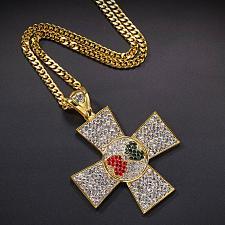 Buy Elvis Presley Maltese Cross Heart Concert TCB Gold Plated Chain Necklace Pendant