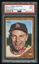 Buy 2011 TOPPS HERITAGE REAL ONE RED AUTO EDDIE YOST PSA 9 MINT (28474775)