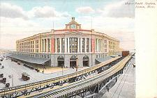 Buy South Station Railroad Elevated Boston Mass Vintage Postcard