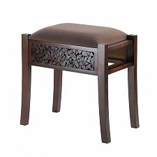 Buy *15373U - Regent Carved Rectangle Hardwood Padded Stool