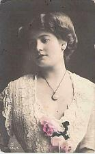 Buy Czarist Russia Era Young Lady Color Tinted Photo Used Vintage Postcard