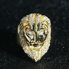 Buy Elvis Presley Aloha Hawaii Concert Head Lion Men Ring Crystal Gold Plated S.8-13