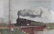 Buy Fast Express Crossing, C.B & Q Bridge, Aurora, Ill. Vintage Postcard