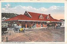 Buy N.Y.N.H.&H. Station Putnam, Conn. Railroad Depot, Used Postcard