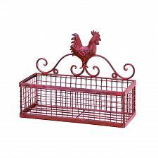 Buy *15877U - Red Rooster Single Rack Metal Wall Basket