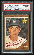 Buy 2011 TOPPS HERITAGE REAL ONE RED AUTO HAL STOWE PSA 9 MINT (40778259)