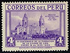 Buy Peru #325 Lima Cathedral; Unused (0.60) (0Stars)  PER0325-03XRS