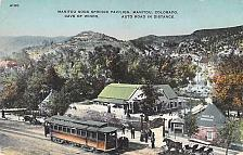 Buy Manitou Soda Springs Pavillion, Tram, Cave of the Winds, Colo Vintage Postcard