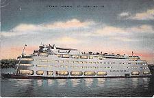 Buy Steamer Admiral, St. Louis, MO. on Mississippi River, Vintage Used Postcard