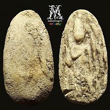 Buy Rare Antique 18th C. Over 700yrs Thai Amulet Old Powerful Phra Sukhothai Period