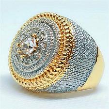 Buy Elvis Presley Aloha Hawaii Concert TCB 1973 NR Wedding Gold White S 6-11 Ring