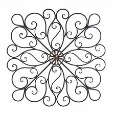 Buy *16153U - Black Iron Scrollwork Sculpture Wall Art Decor
