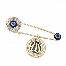 Buy Gift islam muslim Allah evil eye crystal brooch islam jewelry Allah Evil Eye