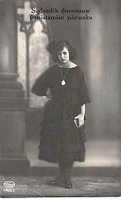 Buy Young Finnish?Girl in Black Dress Sorrowful Look Real Photo RPPC Unused Postcard