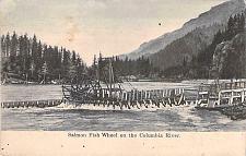 Buy Salmon Fish Wheel on the Columbia River Vintage Postcard