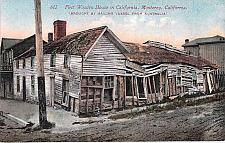 Buy First Wooden House in California, Monterey CA. Vintage Postcard