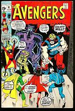 Buy AVENGERS #91 Marvel Comics 1971 Roy Thomas Sal Buscema Capt. Marvel Ronan +++