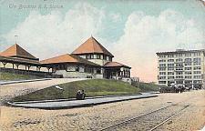 Buy The Brockton Railroad Station Vintage Postcard